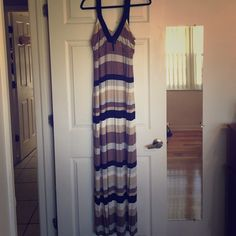 Brand new with tags. Long maxi dress Brand new with tags. Long striped maxi dress. I accept offers and do bundles! :) a.n.a Dresses Maxi
