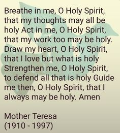 The role of the holy spirit in my life