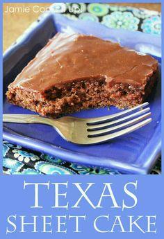 Tesax sheet cake