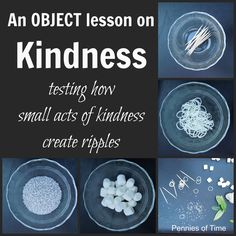 A powerful object lesson on acts of kindness, how small and large acts of kindness create affect others. Includes a book suggestion!