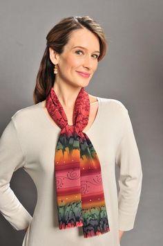 Handpainted silk scarf.  Very pretty