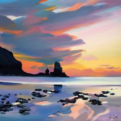 'Talisker Bay Sunset' by Pam Carter