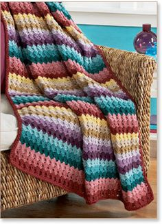 Afghan Kits at Herrschners Crochet Crafts, Sewing Crafts, Crochet Ideas, Crochet Kits, Crochet Shell Stitch, Crochet Stitches, Crochet Afgans, Knit Crochet, Crochet Blanket Patterns