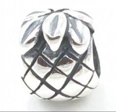 TOPSELLER! B25 Pineapple Solid Silver European Bead Charm Fits Pandora Biagi Troll Chamilia Cable Bracelets $11.83