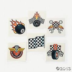 Our Race Car Tattoos will have kids speeding to grab some! These cute, easy-to-remove party supplies make great party favors. They're fun . Car Themed Parties, Cars Birthday Parties, Birthday Party Favors, Race Car Birthday, Race Car Party, Race Cars, 4th Birthday, Birthday Ideas, Car Tattoos