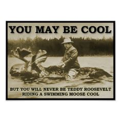 Teddy Roosevelt riding a moose cool US Humor - Funny pictures, Quotes, Pics, Photos, Images on imgfave I Smile, Make Me Smile, Doug Funnie, Funny Commercials, By Any Means Necessary, She Wolf, Demotivational Posters, My Guy, Just For Laughs