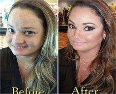 Antes e depois feito pelo maquiador @silviocosta do Beauty Team da NYX Manauara