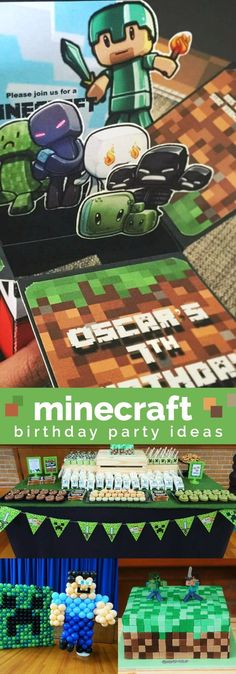 A Well-Built Minecraft Boy's Birthday Party
