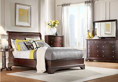 Whitmore Cherry 5 Pc King Platform Bedroom Find Affordable Bedroom Sets For Your Home That Will Complement The Rest Of Your Furniture