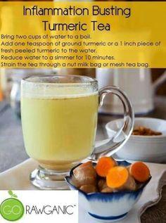 Tumeric tea (inflammation)