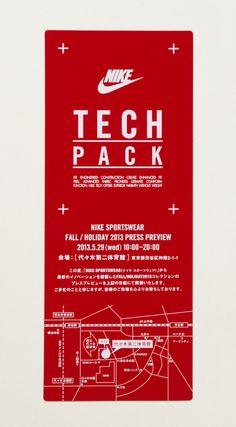 NIKE_TECHPACK_001 Ticket Design, Label Design, Branding Design, Logo Design, Typography Layout, Graphic Design Typography, Web Design, Layout Design, Sports Graphic Design