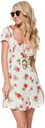 LUCCA FLORAL SKATER DRESS > Womens > Clothing > Dresses | Swell.com