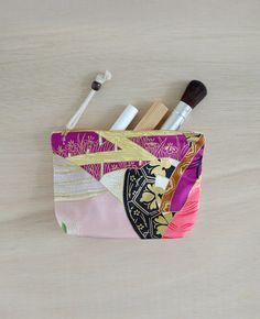 Natsuki makeup bag  japanese pattern cosmetic bag by overdo, $22.00
