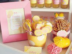 "Photo 12 of Pink Lemonade / Birthday ""Hazel's sweet & sunny day"" Kylie Birthday, First Birthday Party Themes, Baby Birthday, Birthday Ideas, Pink Parties, Themed Parties, Pink Lemonade Party, Creative Party Ideas, Lemon Party"