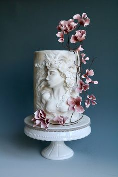 Ophelia sculpture - cake by tomima Beautiful Birthday Cakes, Gorgeous Cakes, Pretty Cakes, Cute Cakes, Amazing Cakes, Beautiful Cake Designs, Fantasy Cake, Crazy Cakes, Painted Cakes