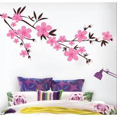 vinil-autocolante-decorativo-ramo-flores-Japão