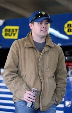 Ricky Stenhouse Jr., driver of the #17 Best Buy, stands in the garage during NASCAR Testing at Charlotte Motor Speedway on January 18, 2013 in Charlotte, NC Photo - Streeter Lecka/Getty Images