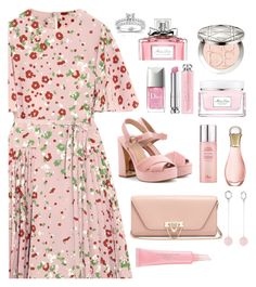 """cherry blossoms"" by indahnovianaa ❤ liked on Polyvore featuring Valentino, Tory Burch, Christian Dior, Bling Jewelry and Annello"