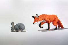 Sean Kenney's Nature Connect Lego animal sculptures are featured in Beautiful Lego: Wild Things.