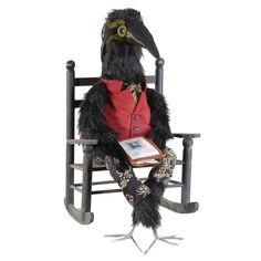 Edgar Allen Crow. Halloween Doll. Spoof on Edgar Allen Poe.