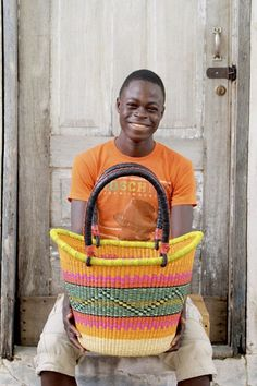 Nyariga Basket (Large) by Ayuka Nsohbillah