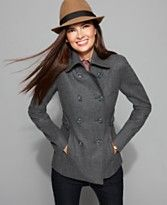 Nine West Double Breasted  Pea Coat  MACY'S