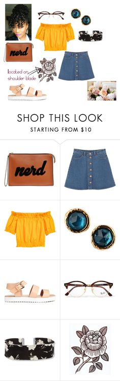 """""""Going to my favroite flower shop"""" by keneko17therainbowprincess on Polyvore featuring Les Petits Joueurs, Monki, Marc by Marc Jacobs, Ray-Ban and Steve Madden"""