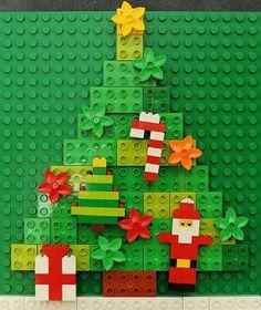 Weihnachtsbaum aus Lego Duplo