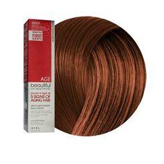 Anti-Aging 4RM Dark Red Mahogany Brown Demi Permanent Liqui Creme Hair Color