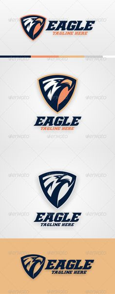 Eagle Logo Template — Vector EPS #simple #strength • Available here → https://graphicriver.net/item/eagle-logo-template/6562073?ref=pxcr