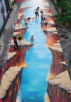 3D street art: Cliffs