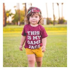 Is your •GAME FACE• as cute as hers? Prove it! We only have a few of these left in the shop! You don't want to miss out on them, you can even wear them year round! 🙌🏻😍❤️ • • • • • • #cutekidsclub #igfashion #kidzootd #instagram_kids #trendykiddies #babiesofinstagram #kidzfashion #kidslookbook #kids_stylezz #thechildrenoftheworld #igkiddies #kidsfashion #toddlerfashion #mommy #mommylife #mom #momlife #ilovedisney #buckeyes #ilovefootball #ohiostate #football #nfl #clevelandbrowns