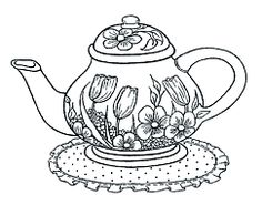 marginalia New Mouse House Summer Teapot Coloring Pages