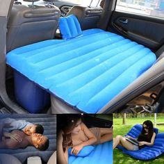 Portable Inflatable Travel Camping Car Seat Sleep Rest Mattress Air Bed+Air Pump in Home & Garden,Furniture,Beds & Mattresses | eBay