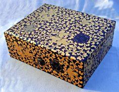 Japanese Edo box-lacquer http://www.oneofakindantiques.com/catalog/7489_japanese_edo_black_lacquered_writing_document_box_c1865_1.htm