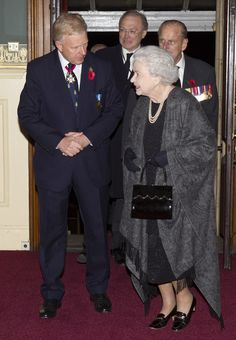 The Queen and the Duke of Edinburgh at the Royal Albert Hall to attend the Festival of Remembrance 9 Nov 2013