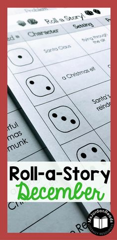 Story Starter Writing for December | Students will roll a dice to identify the characters, setting, and problem of their story. | Teachers or parents can this resource to motivate writers who never know what to write about or ones who have difficulty coming up with ideas. It's perfect for struggling writers in the classroom! (Gr. 2-4)