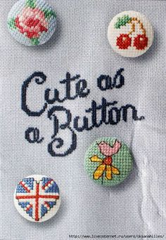 Cute as a Button - no chart, but easy to figure out. :)