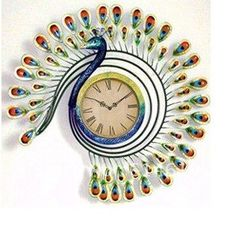 Art élégant paon horloge murale, Fer œuvre, Style européen + chinois antique, 100% peint à la main, Home decor, Livraison gratuite dans Horloges murales de Maison & Jardin sur AliExpress.com | Alibaba Group