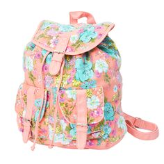 claire's backpacks | flowers add a bright pop of color to this pastel floral print backpack ...