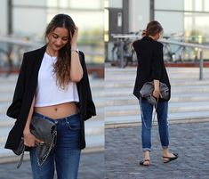 Get this look: http://lb.nu/look/7814852  More looks by Ranim H.: http://lb.nu/theperfectdisease  Items in this look:  Zara Blazer, Stella Mc Cartney Bag   #chic #edgy #sporty