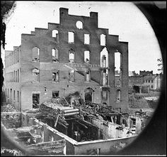 Richmond, Va. Ruins of paper mill; wrecked paper-making machinery in foreground