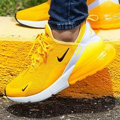 Nike Sneakers Air Max Yellow Shop the goods at brand name The New Arrivals. The Latest sneakers and shoes . Sneaker Outfits, Sneakers Fashion Outfits, Fashion Shoes, Skirt Fashion, Fashion Jewelry, Cute Sneakers, Sneakers Mode, Shoes Sneakers, Women's Shoes