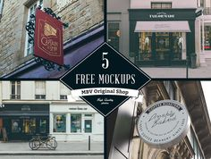 A collection of five store photorealistic signs. PSD-files contain smart objects for adding your own screens.