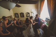 Bride and Mother. Bridesmaids.Wedding at Lake Lure Inn, near Asheville, NC.