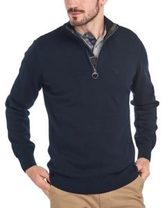 Barbour Mens, Half Zip Sweaters, Men Sweater, Zipper, Navy, Stylish, Layering, Identity