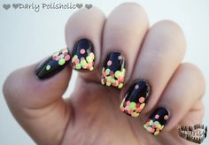 ♥♥♥ Darly Polisholic ♥♥♥: ♥♥ Nail art con colores neones!!! gritemos verano!!!! ♥♥
