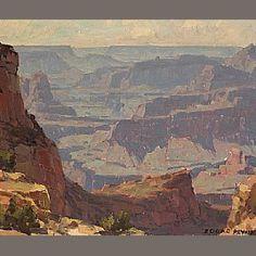 Edgar Payne artist, oil painting.
