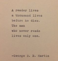 George R. R. Martin Quote Typed on Typewriter by WhiteCellarDoor, $9.00