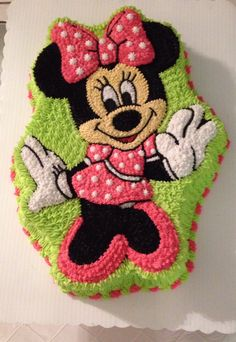 Mini Mouse Cake, Minnie Mouse Birthday Cakes, 3rd Birthday Cakes, Minnie Mouse Party, 1st Birthday Girls, Bolo Minnie, Minnie Cake, Mickey Mouse Cake, Mini Tortillas